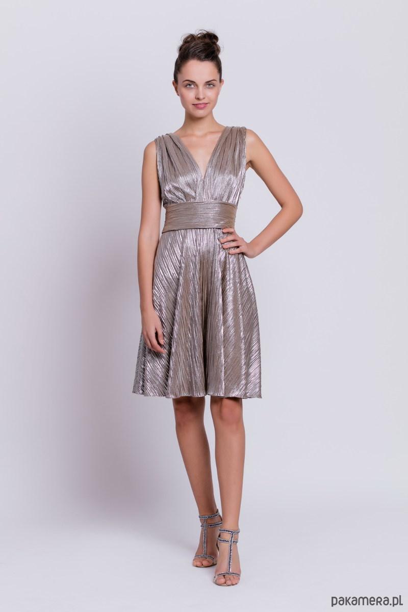 Sukienka metaliczna D109