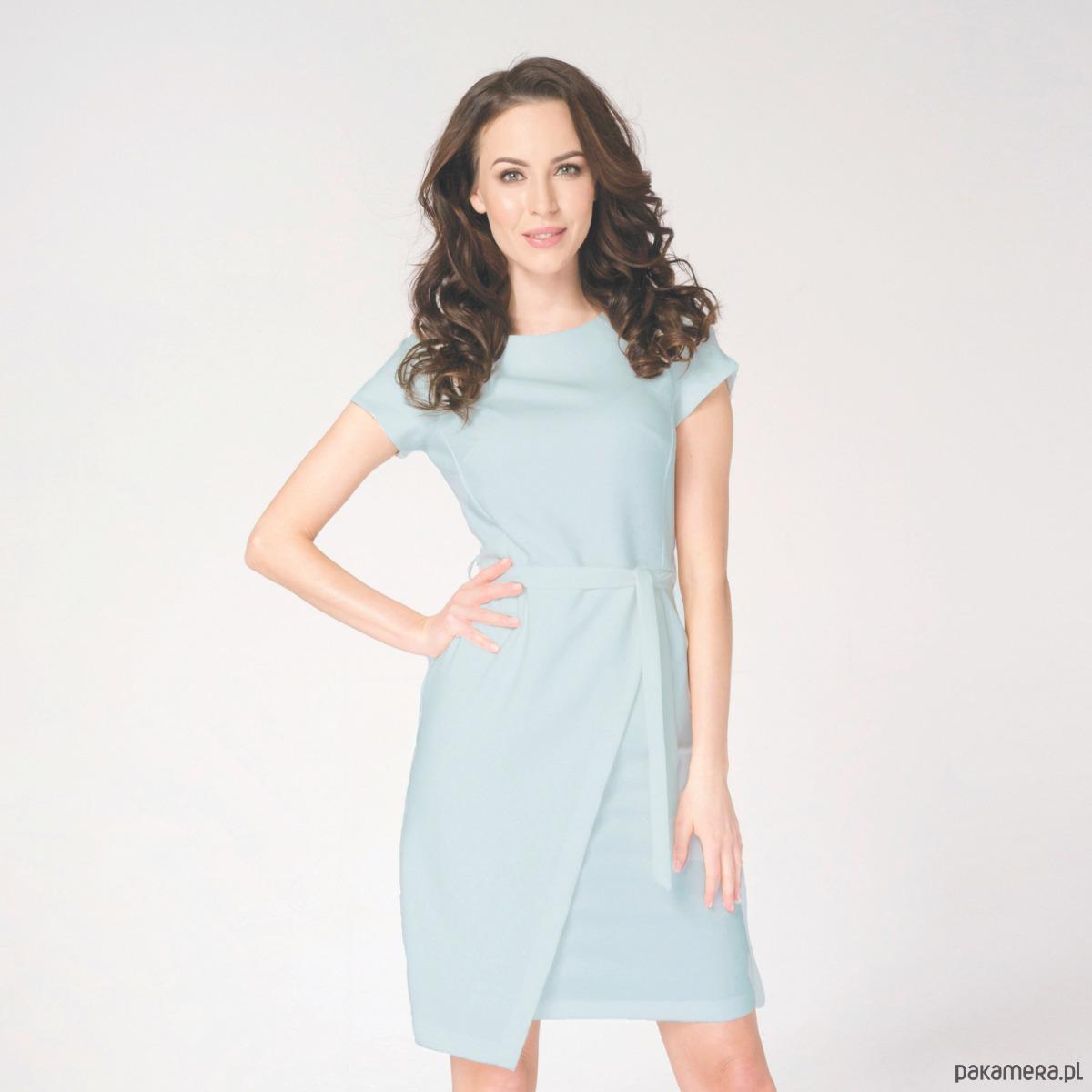 Sukienka Kopertowa Silena Niebieska