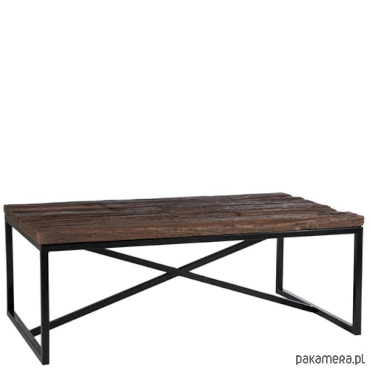 Stolik Kawowy Prostokątny Drewno 46x120x70 Cm Pakamerapl