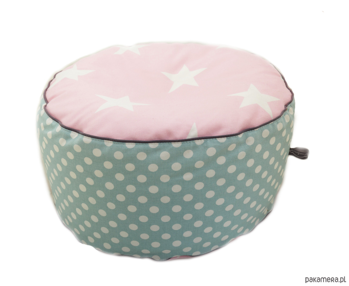 poducha do siedzenia- Pastelove- rożowe gwiazdy - 2037626