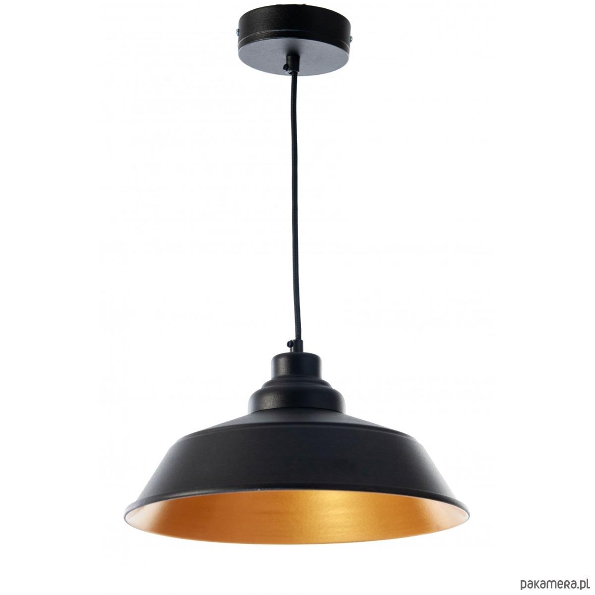 Lampa wisząca Gold Black Loft, czarna, 115 cm