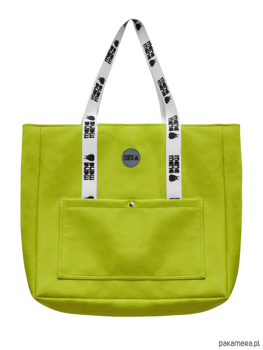 bd1798657b642 Bardzo duża torebka na ramię limonkowa - torby na ramię - damskie -  Pakamera.pl