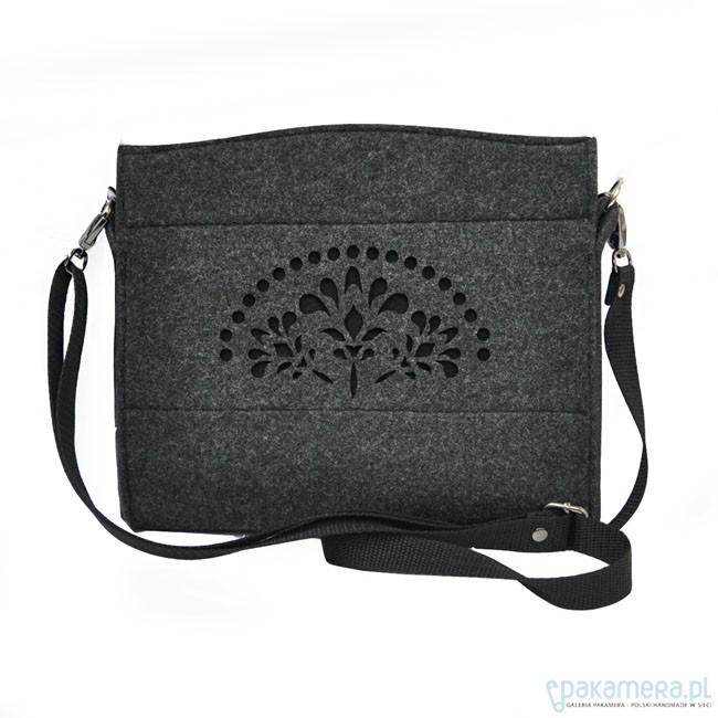 8d4e8736bb635 Mini torebka mod.2 - czarny ażur - grafitowa - torebki mini - Pakamera.pl