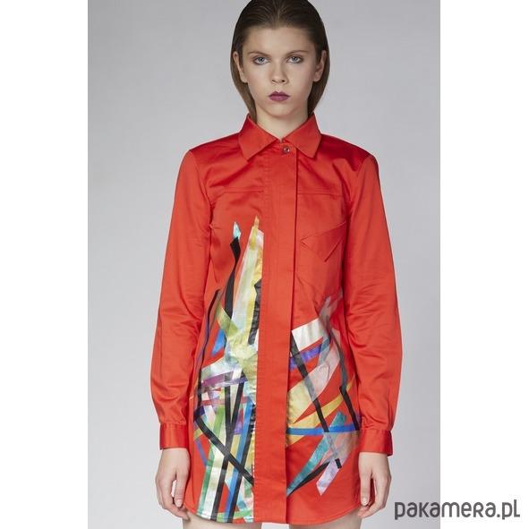 ecd5ab4b51dbc5 Czerwona koszula z grafiką - Moda - bluzki - koszule - Pakamera.pl