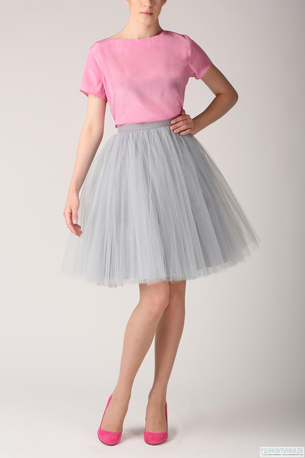 Spódnica tiulowa szara S031 na zamówienie spódnice