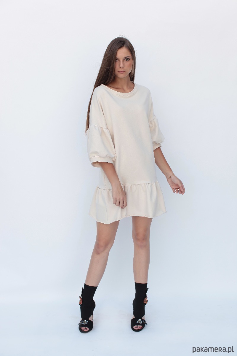 Sukienka dresowa BLANCA Creme