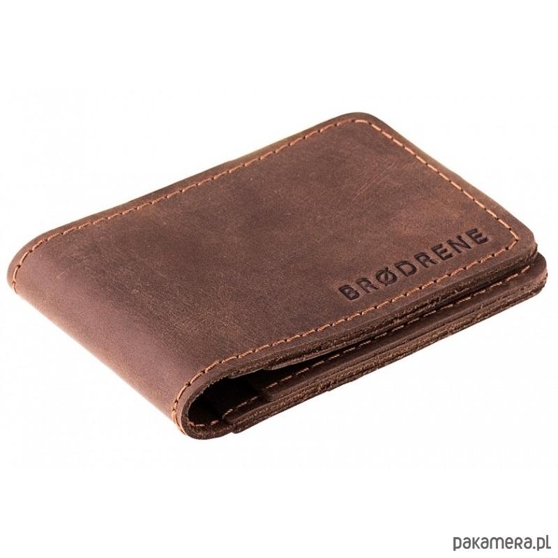 23f76a4728e6b Ciemno brązowy męski portfel skórzany - akcesoria - portfele ...