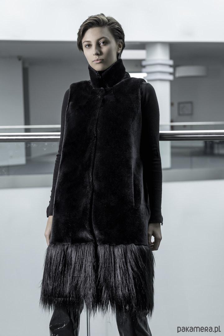Kamizelka futrzana Elegant Black