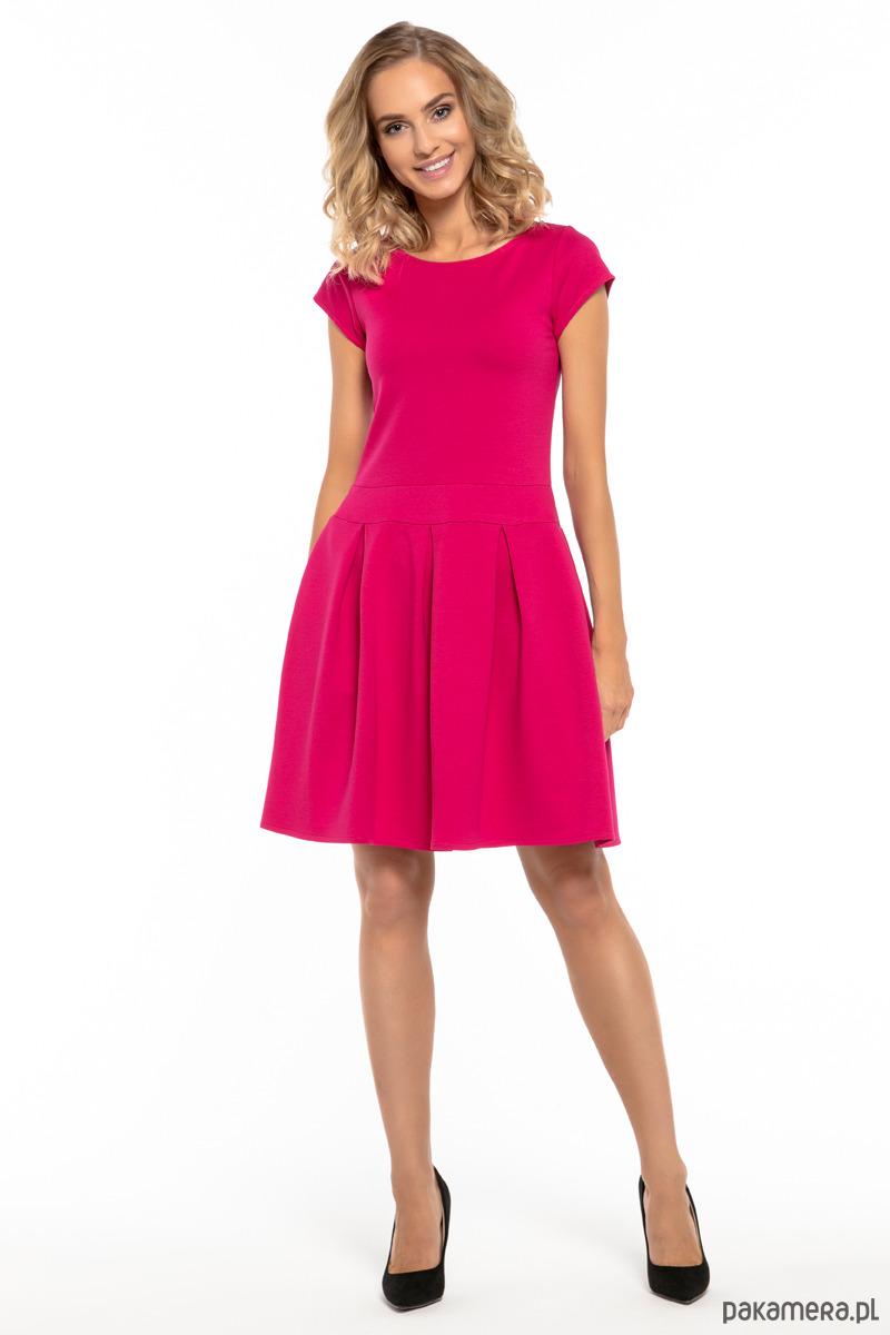 7693828d8d sukienki - mini-Elegancka sukienka z zakładkami