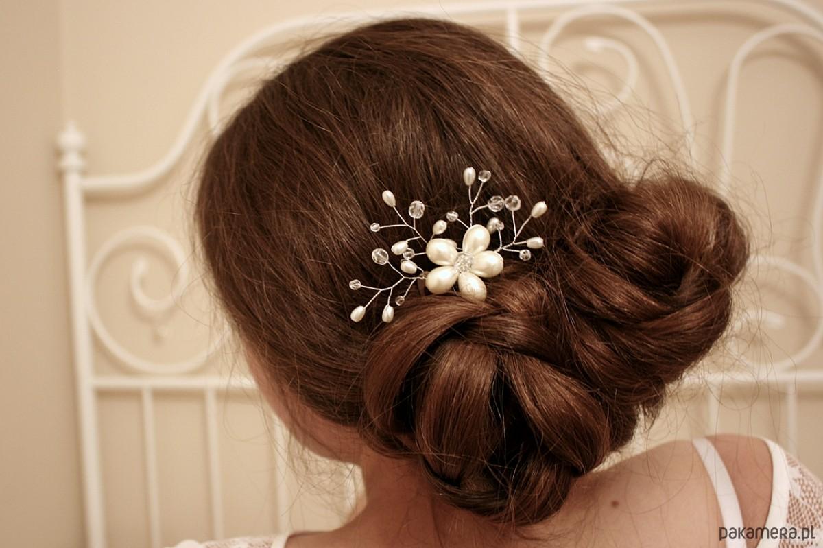 Grzebyk Ozdoba Do Włosów ślubna ślub Dodatki Pakamerapl