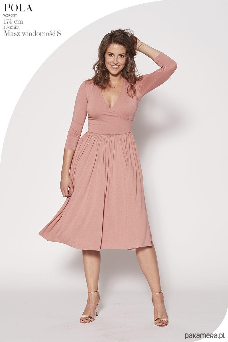 Sukienka Masz Wiadomość szminkowy róż
