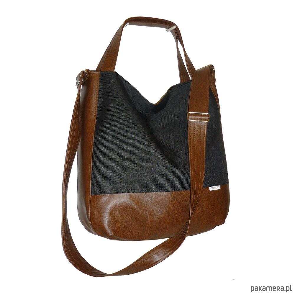 6b8708e7dcf60 torby na ramię - damskie-Duża torba 3w1