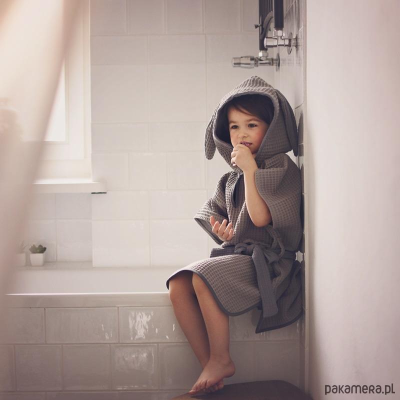 Szlafrok z uszami, tunika kąpielowa