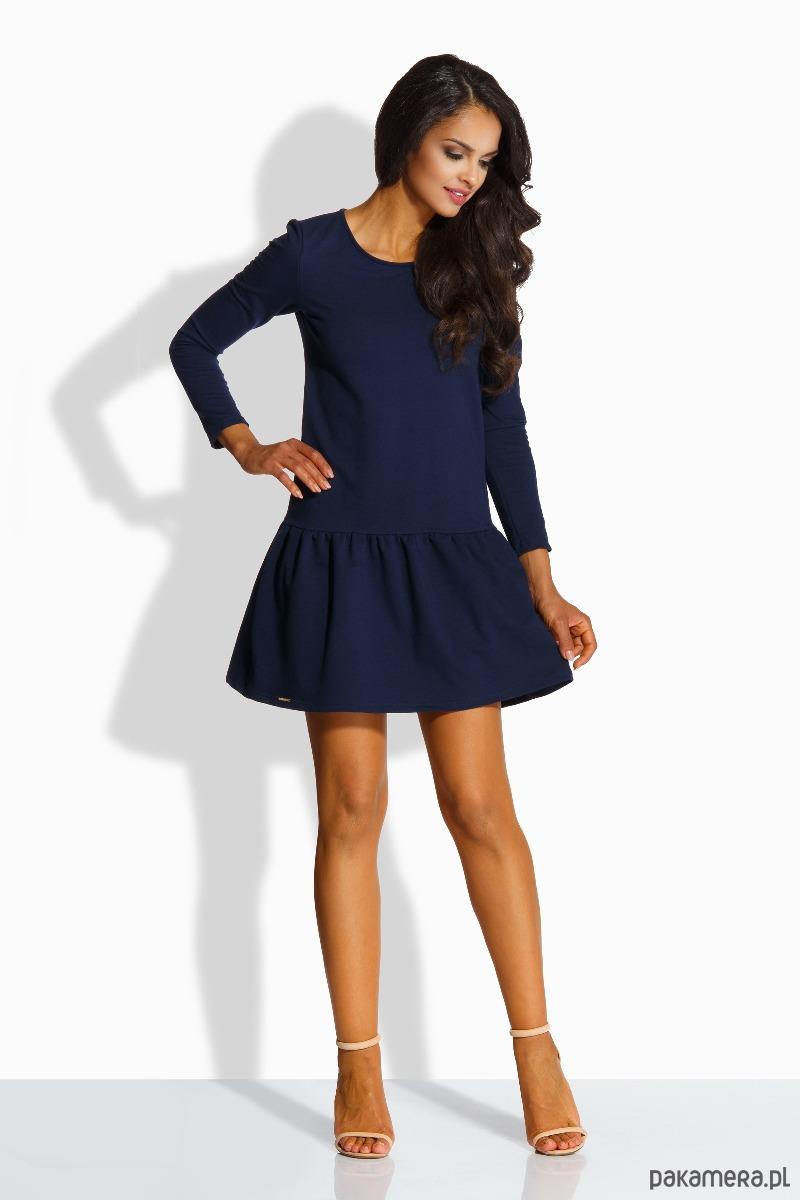 7b39124316 L218 Elegancka sukienka z kokardą - granatowy - sukienki - mini -  Pakamera.pl