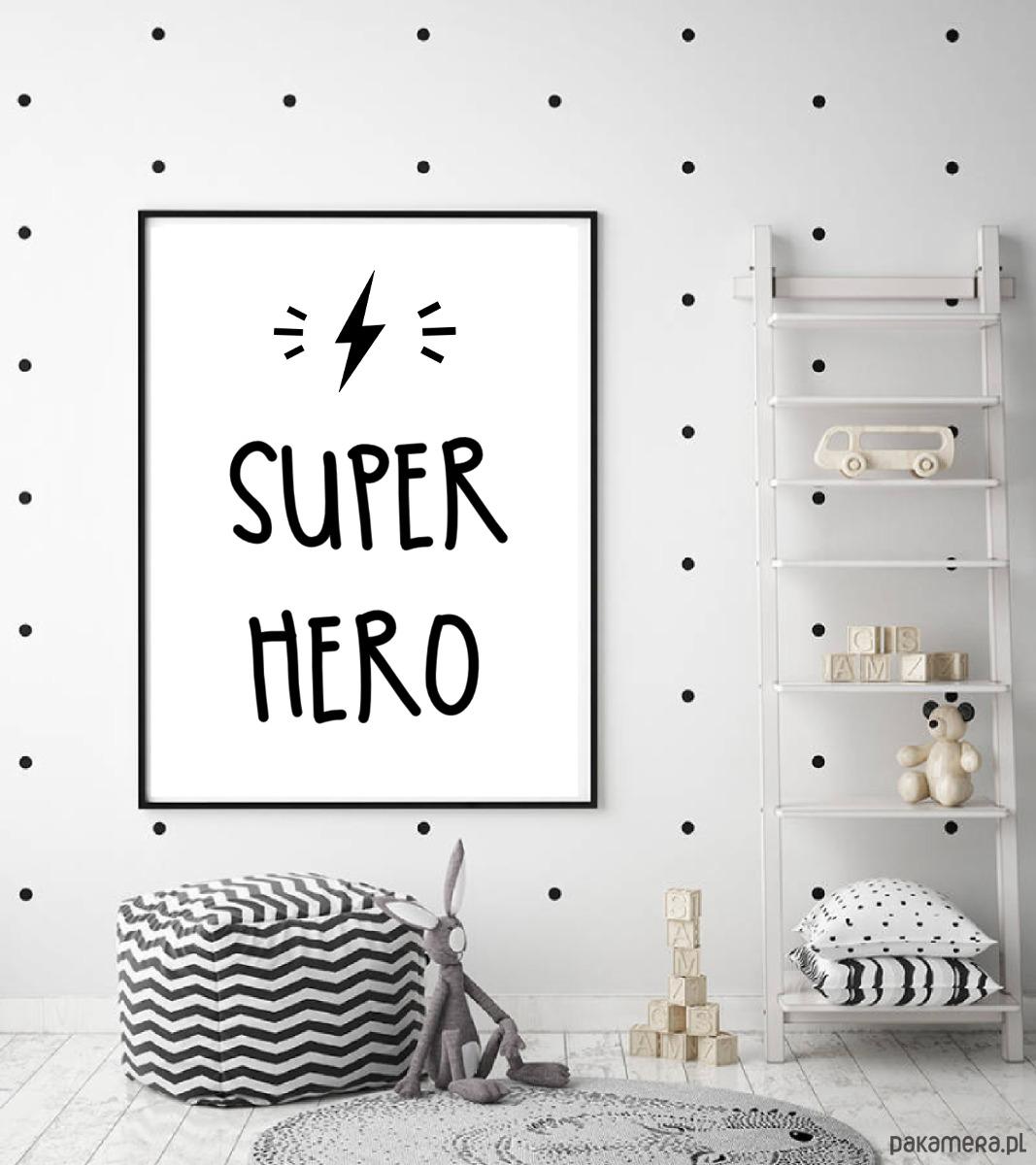 Plakat Do Pokoju Dziecka Dla Chłopca Super Hero Pakamerapl
