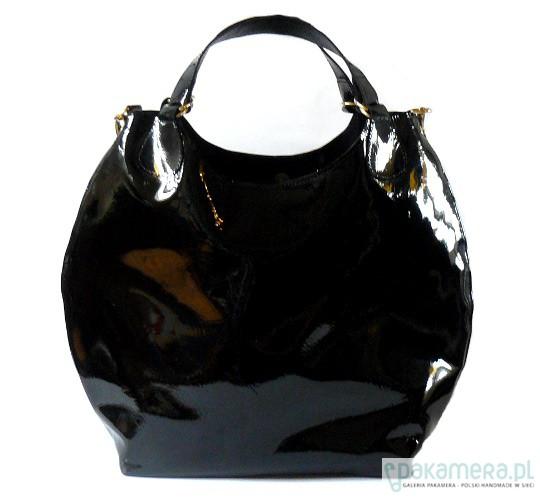 bc002dddc392a Czarna lakierowana - torby na ramię - damskie - Pakamera.pl