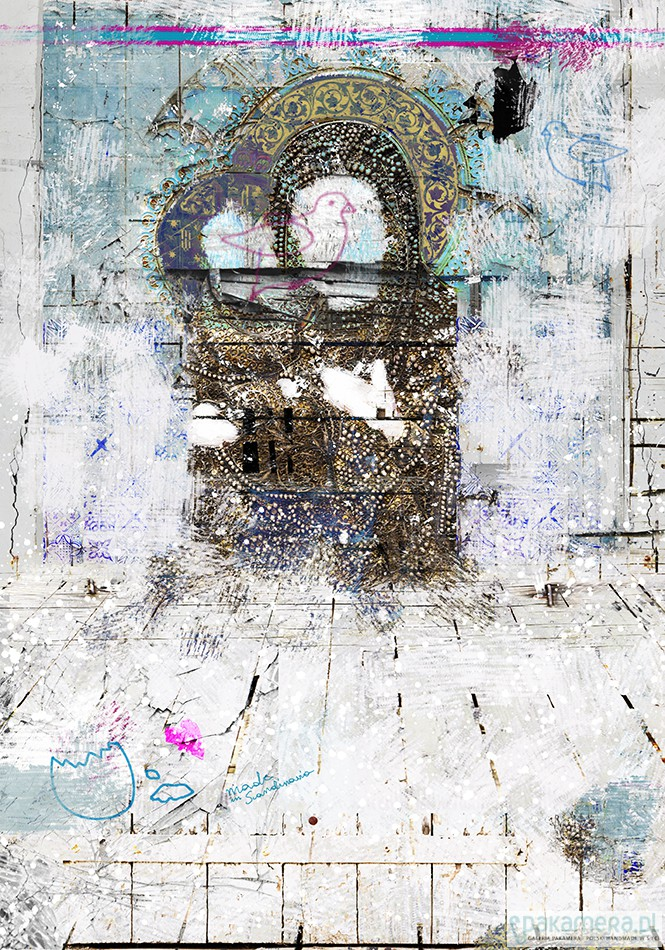 Matka Boska W Pastelach Canvas Schabby Chic Pakamerapl