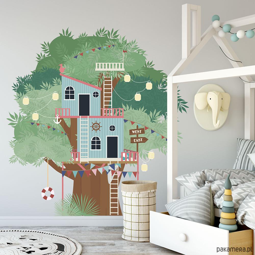 Naklejka Scienna Domek Na Drzewie Pokoj Dziecka Naklejki Scienne