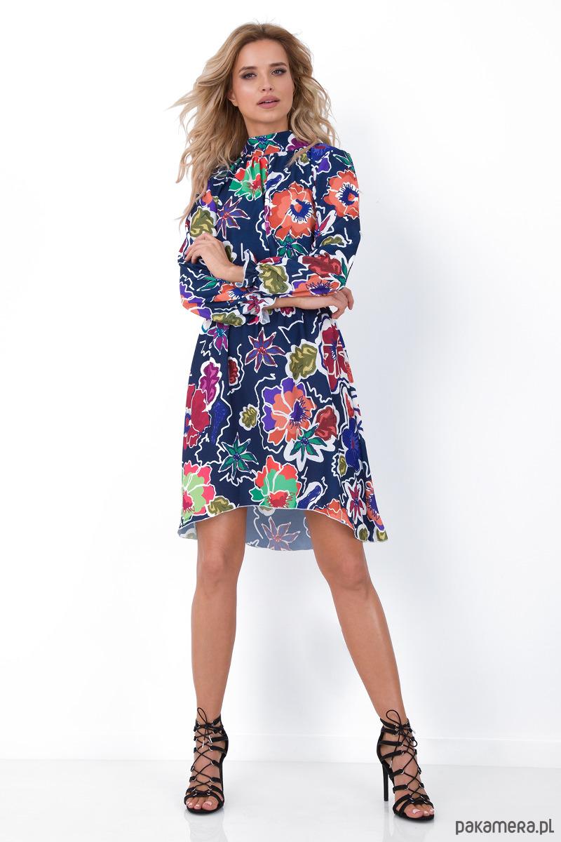 Sukienka w kwiaty f676