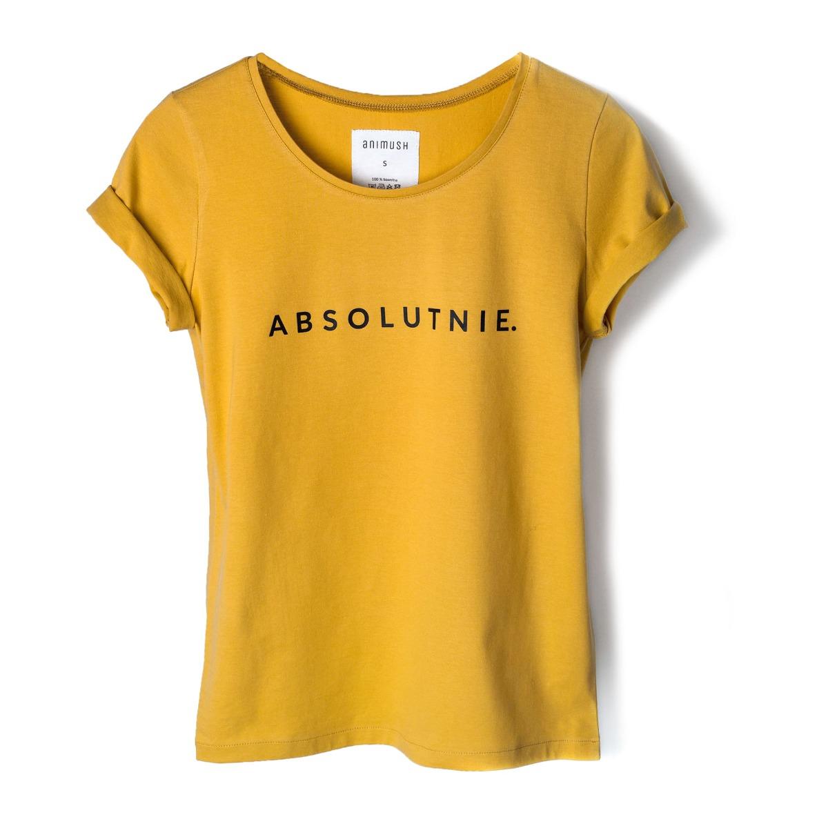 T-shirt musztardowy ABSOLUTNIE.