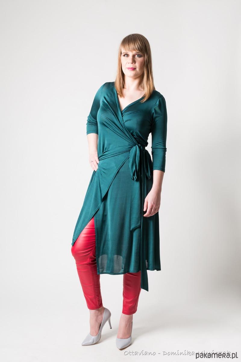 MARILYN silk elegancka kopertowa sukienka