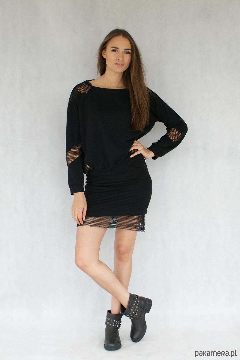 bluza czarna siatka