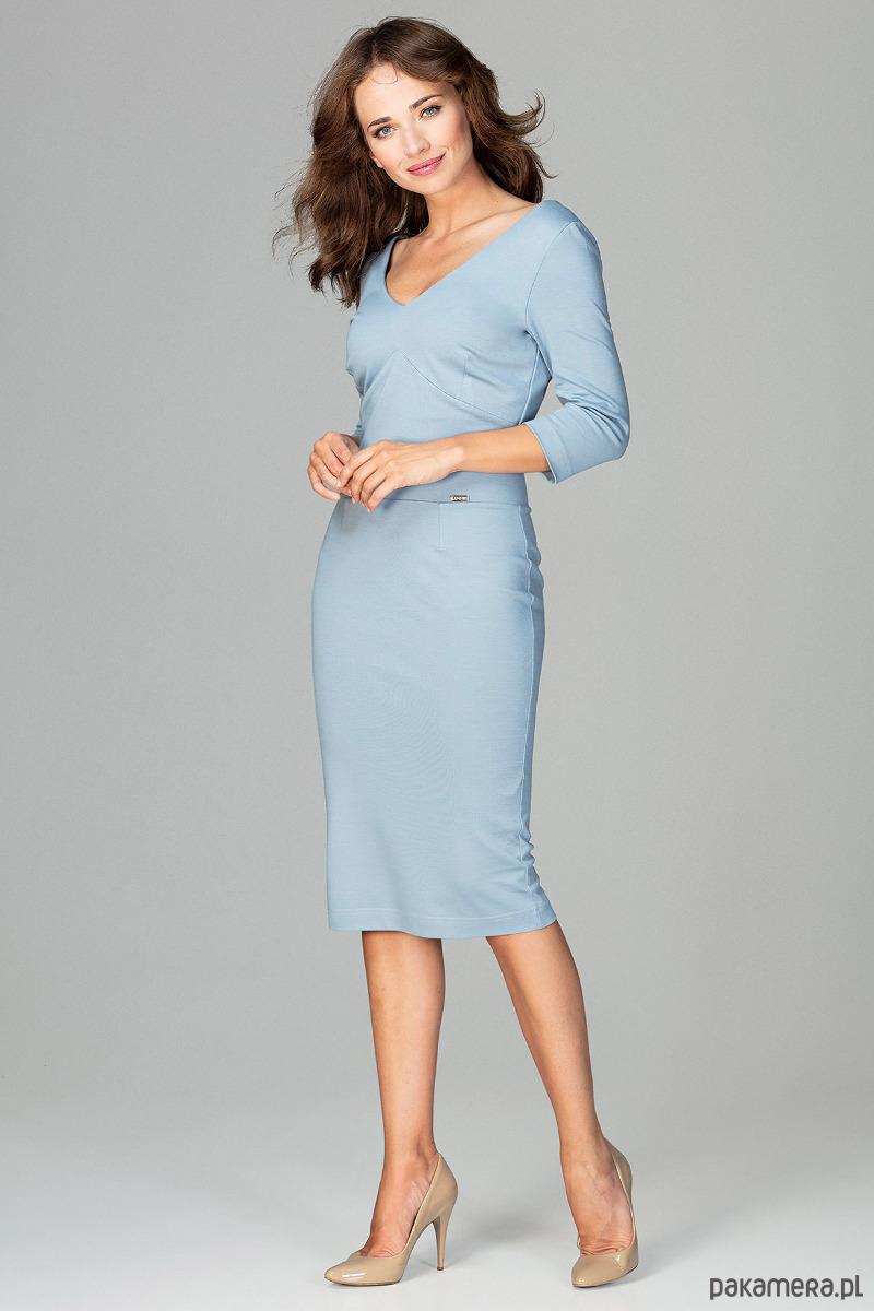 Sukienka K476 niebieski