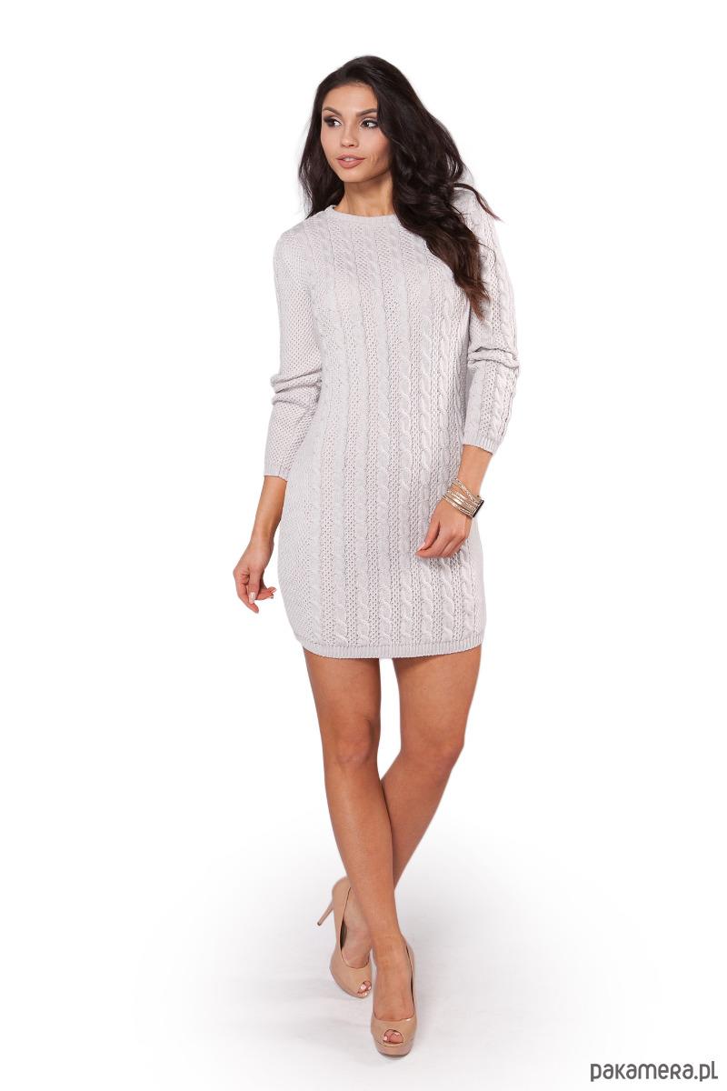 Sukienka S106 SZARY