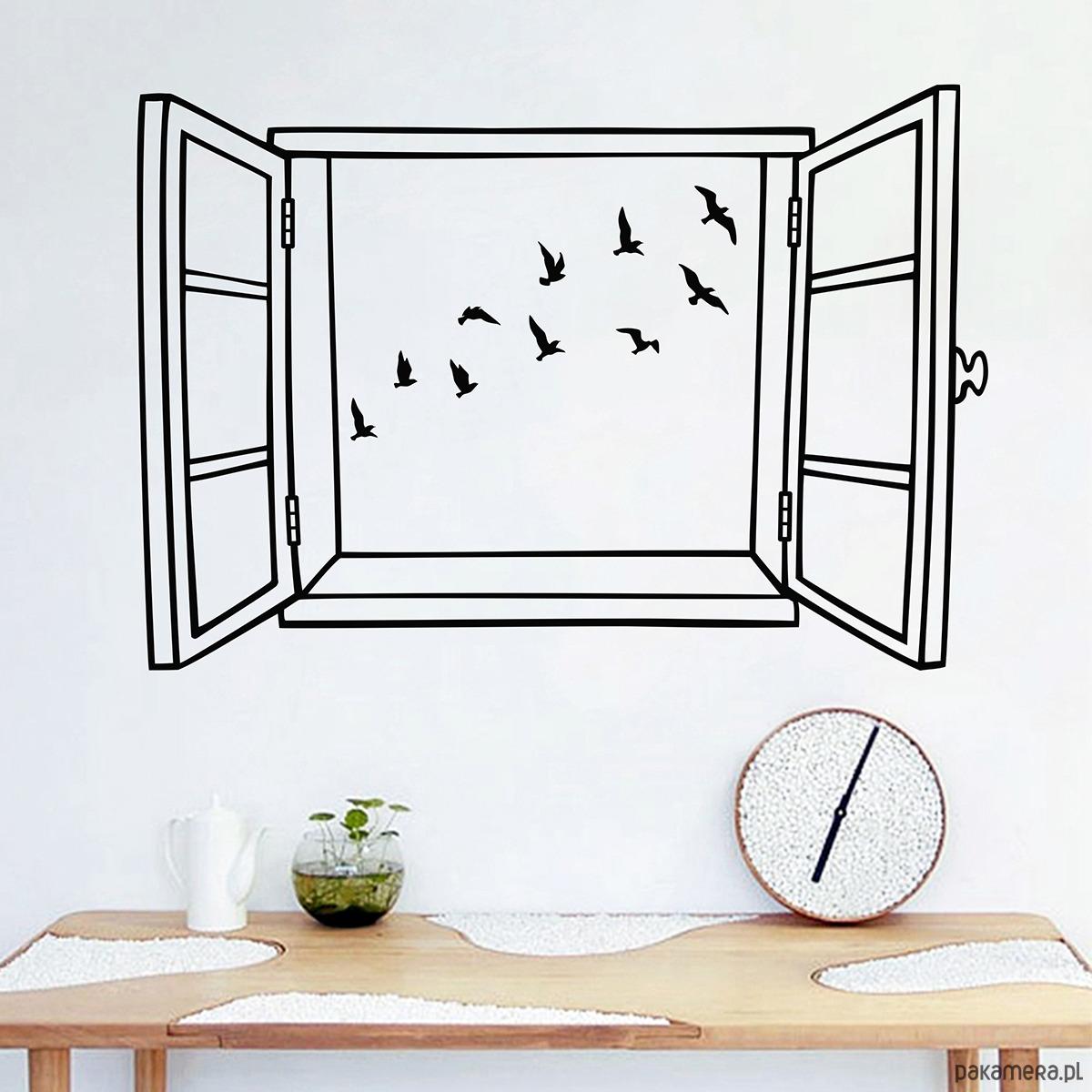 Naklejka Na ścianę Okno Z Widokiem Na Ptaki Tapety Pakamerapl