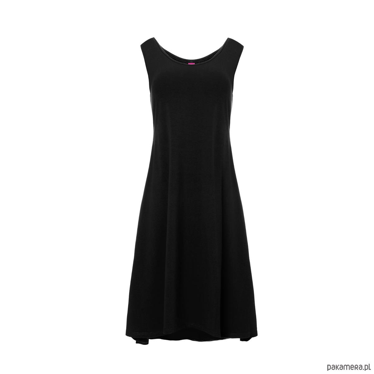 Sukienka na ramiączkach z kieszeniami czarna