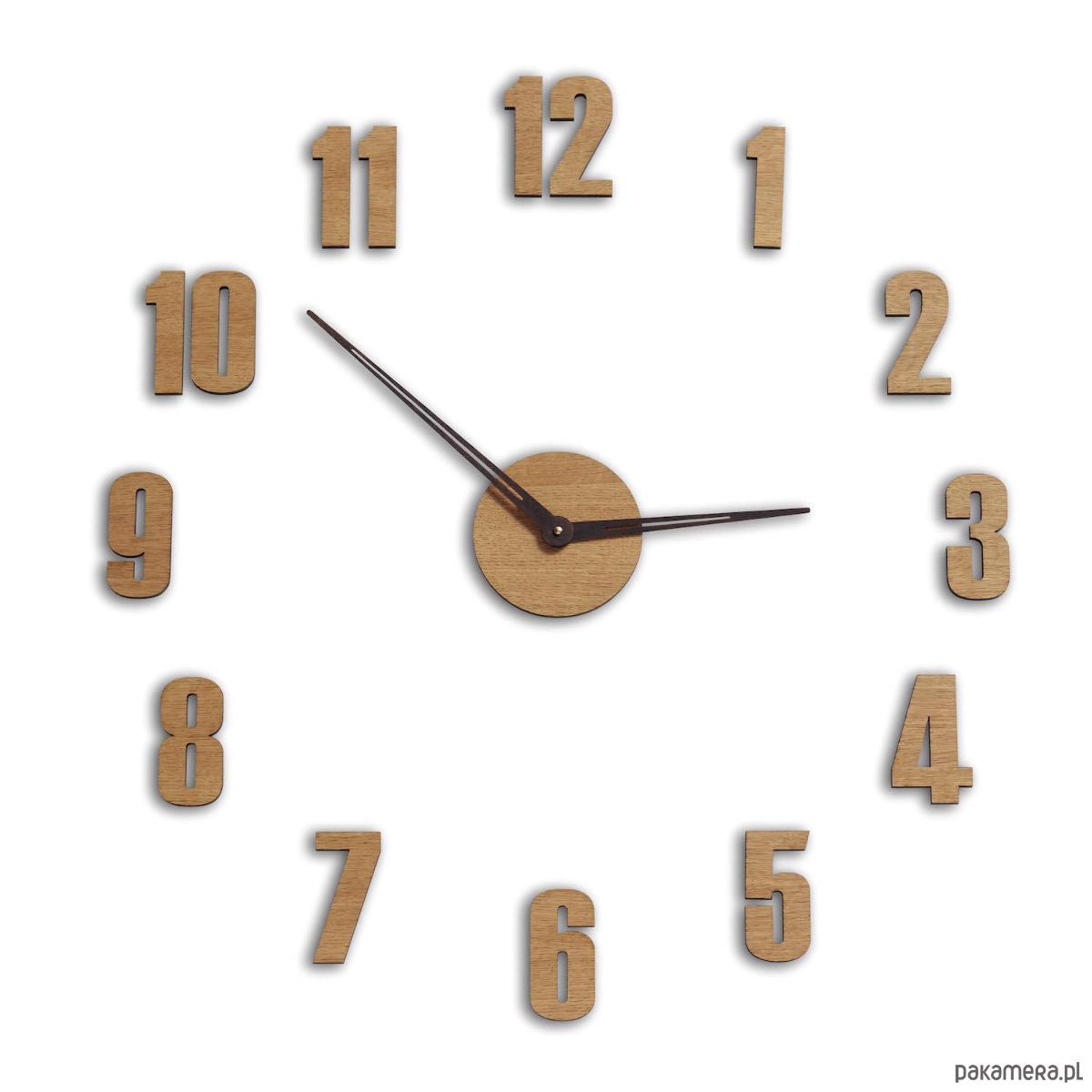 Duży Zegar ścienny Naklejany Pakamerapl
