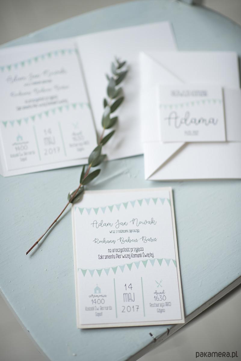 Zaproszenie Na Komunię Flags I Zestaw ślub Zaproszenia Kartki
