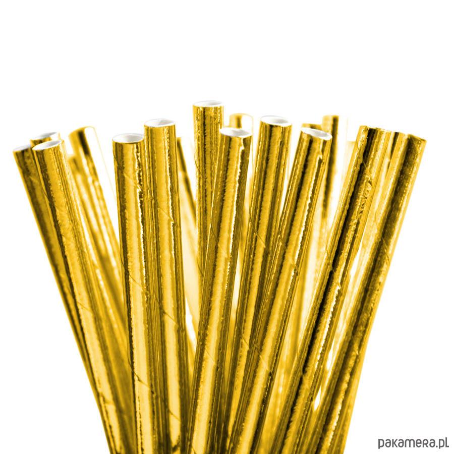 Słomki Złote Metalizowane ślub Dodatki Pakamerapl