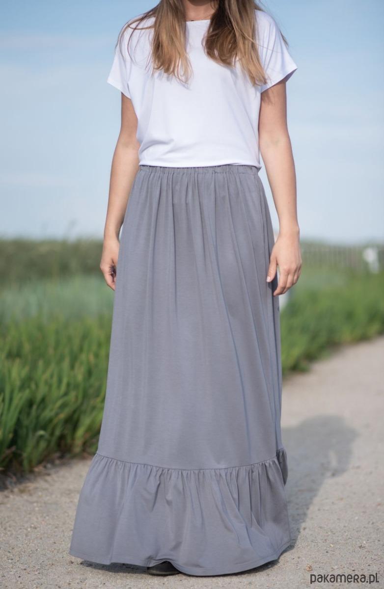 Maxi spódnica boho z kieszeniami