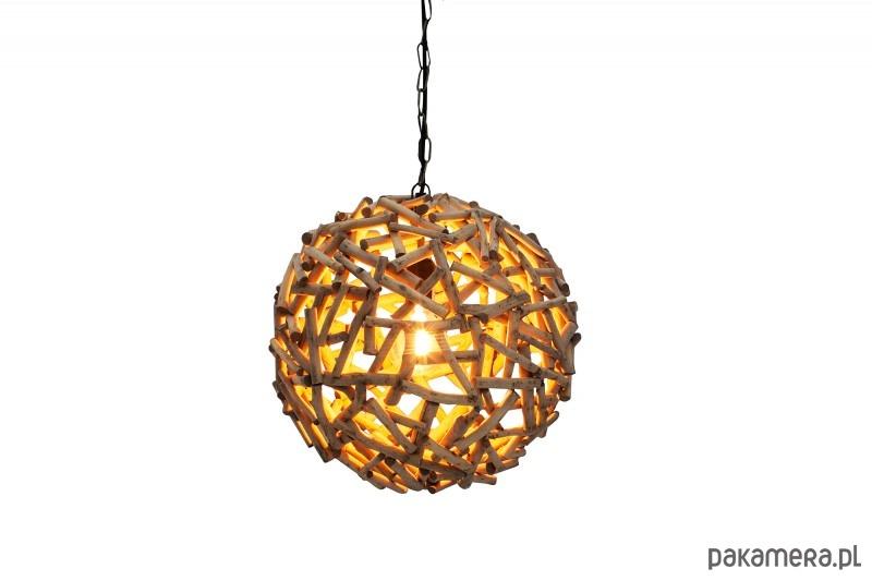 Lampa wisząca Natural brązowa drewno 40cm