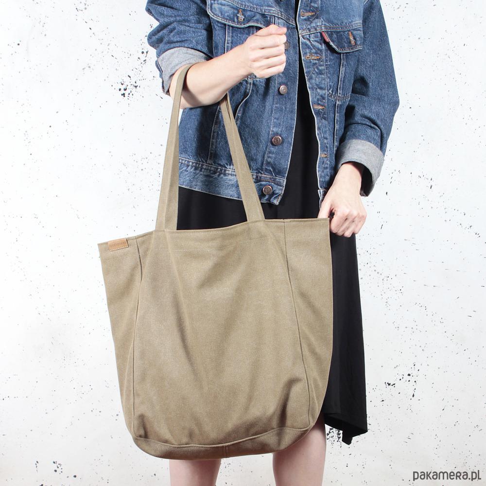 160fe5e48d51e torby na ramię - damskie-Lazy bag torba khaki   zieleń na zamek   vegan
