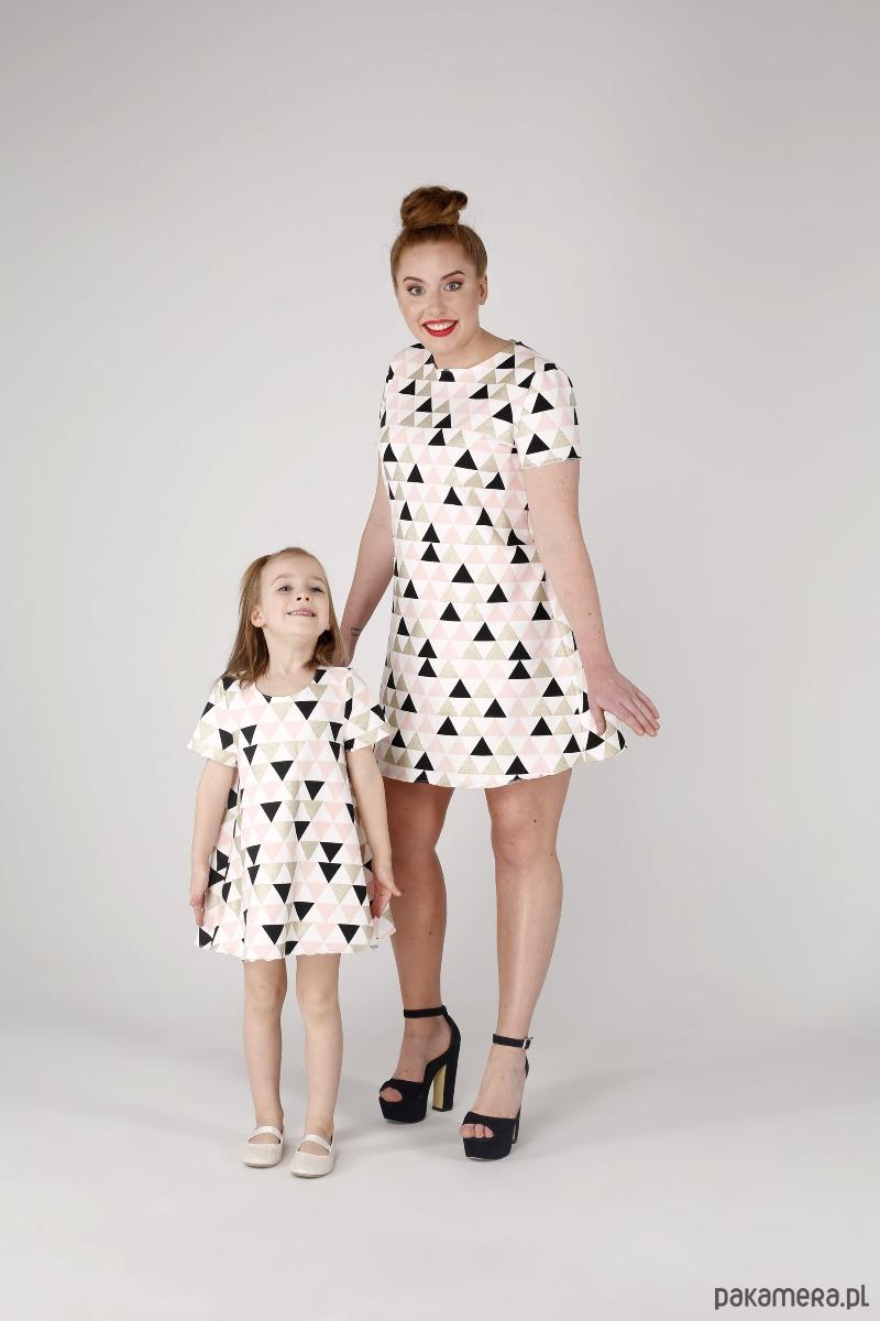 Sukienka trapezowa Geometryczne wzgórza
