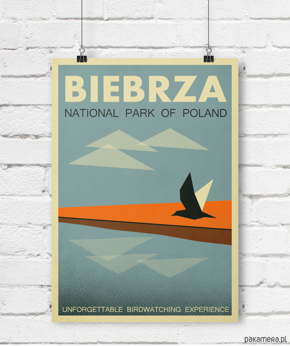 Plakat Biebrza Park Narodowy Polska A4 Pakamerapl
