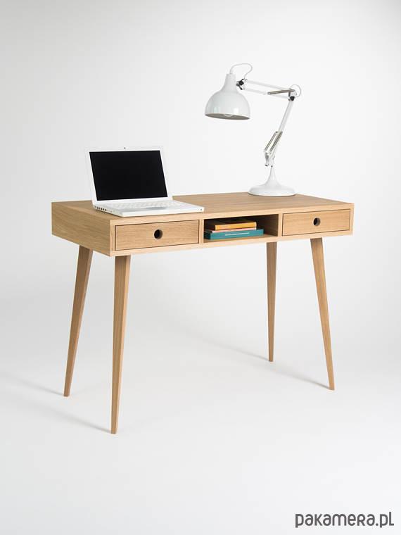 Biurko Drewniane Dębowe Minimalizm Meble Biurka Pakamerapl