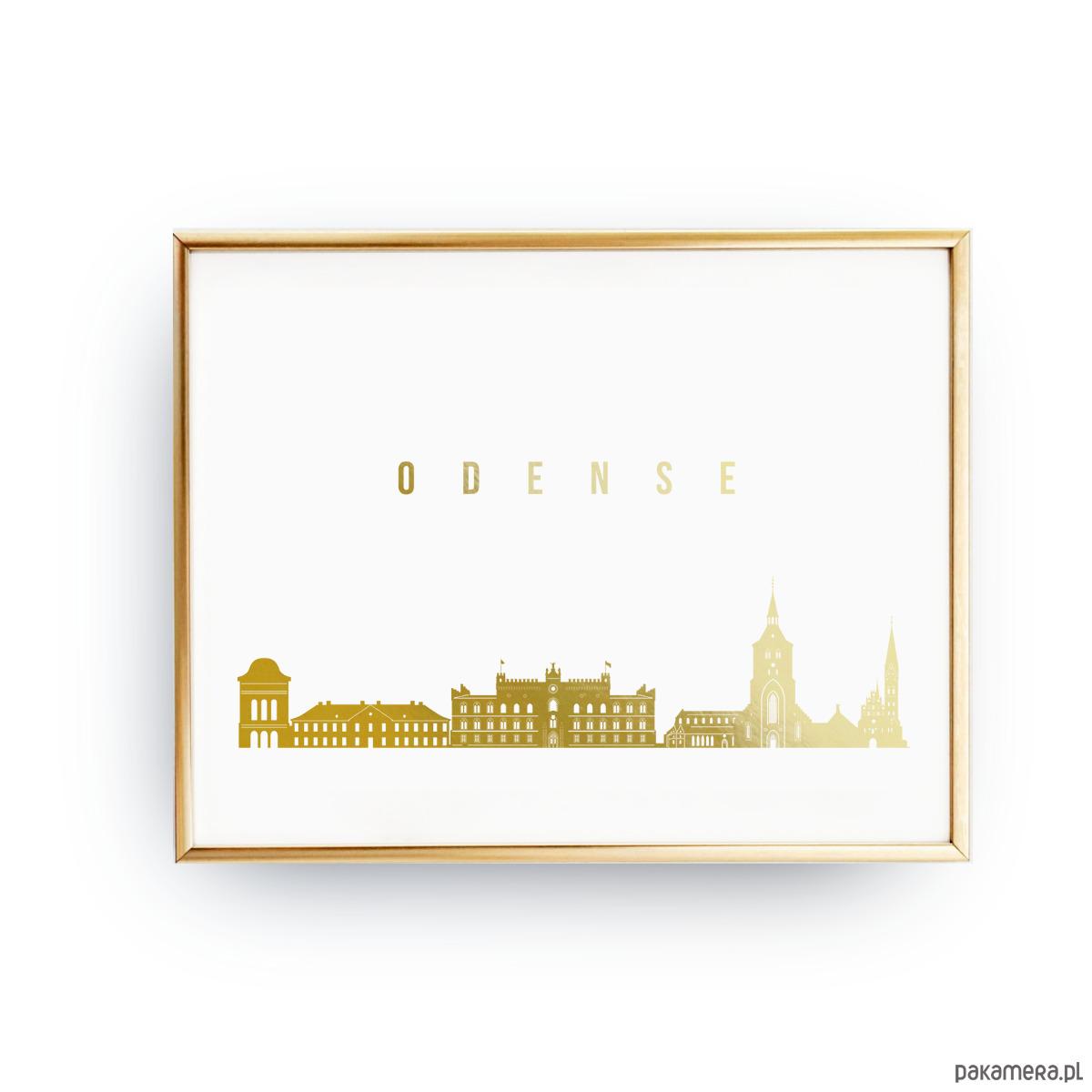 Plakat Odense Złoty Druk Pakamerapl