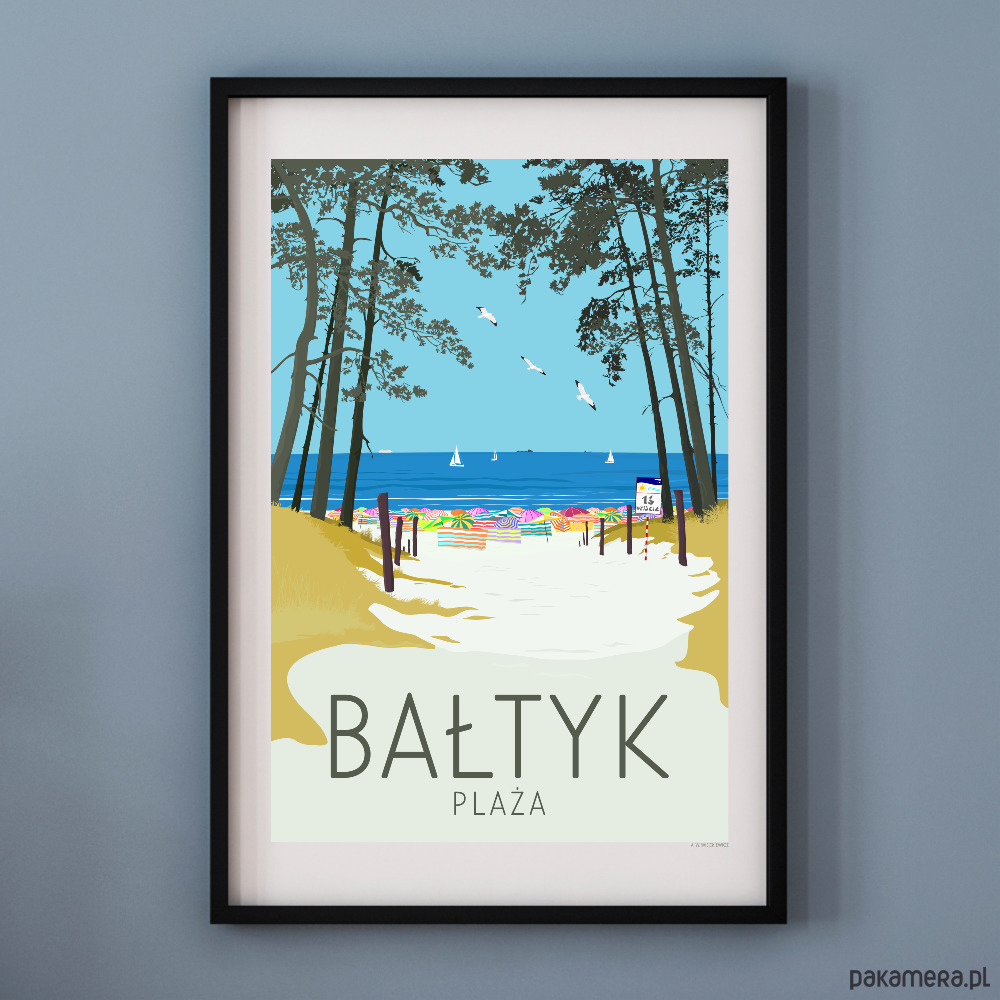 Plakat Bałtyk Plaża Pakamerapl