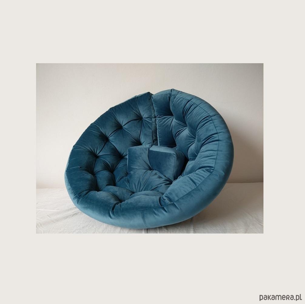 Fotel Futon Sofa Pikowana Velvet