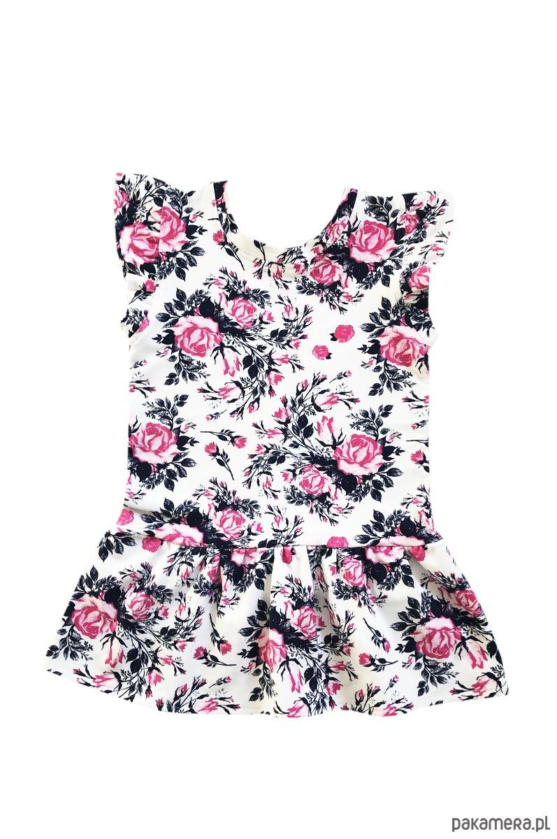 BUGZY Sukienka bez rękawów w róże