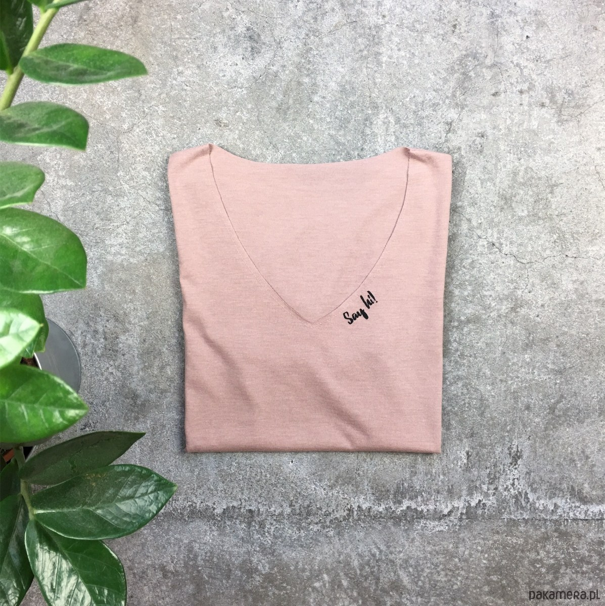 gshirt v-neck (say hi)