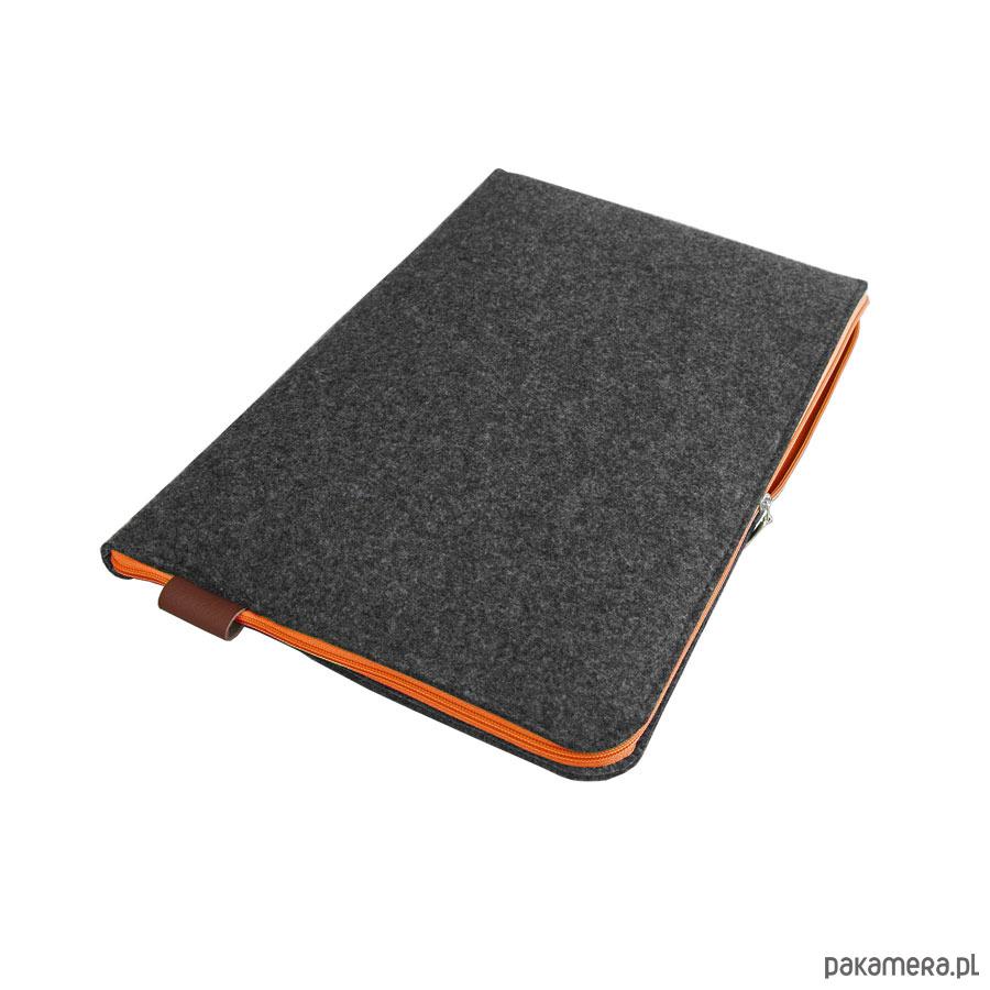 0dc1472da8393 pokrowce i etui - na laptop-ETUI NA LAPTOPA 02 pomaranczowy zamek grafitowe