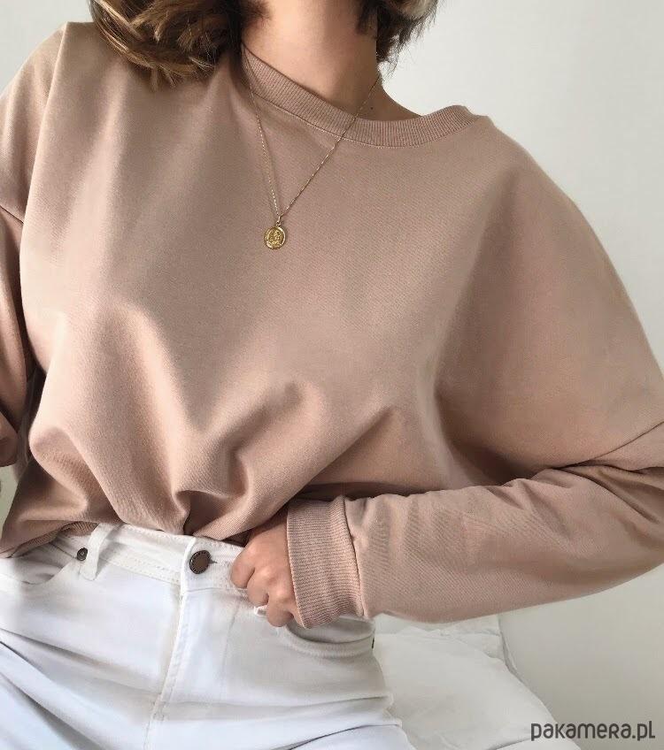 Bluza damska beżowa Ciepły Beżyk