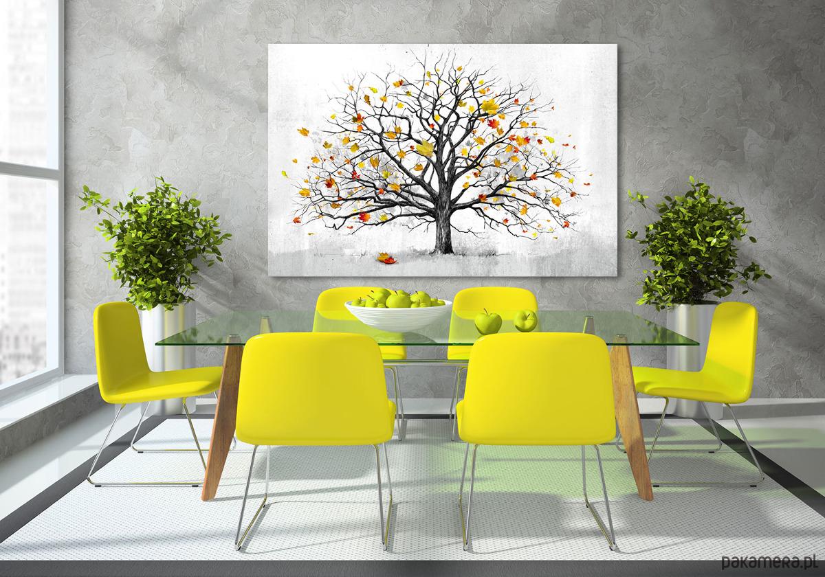 Obraz Na Płótnie Do Salonu Z Jesiennym Drzewem Pakamerapl