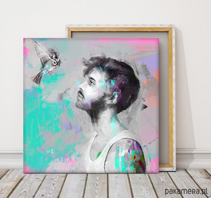 Obraz Na Płótnie Birdcolorfulhe 100x100 Cm Pakamerapl