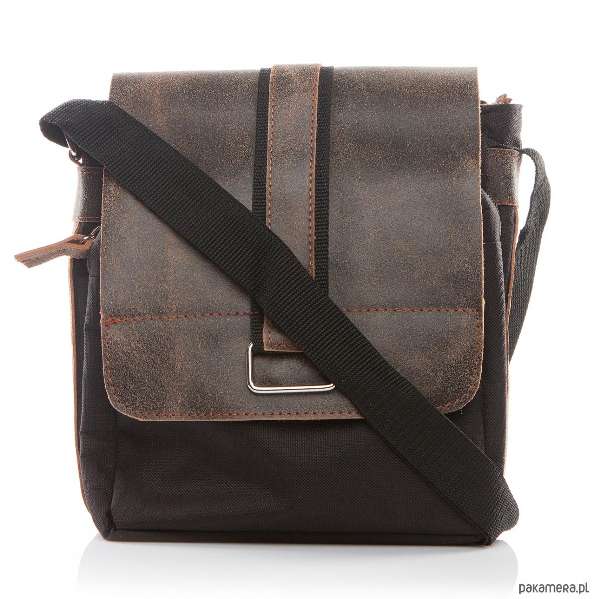 f1be478fb187d akcesoria - torby i nerki - męskie-Saszetka torebka męska na ramię brąz  Belveder