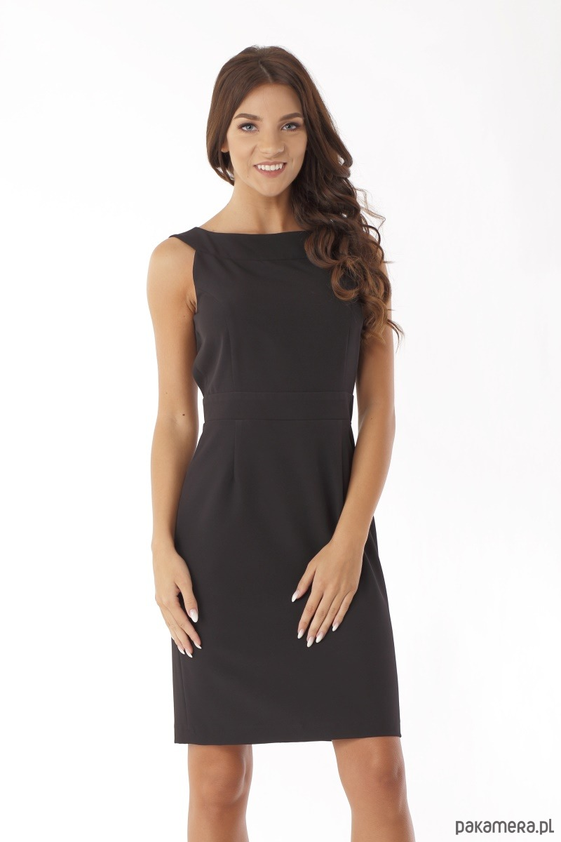 91c769d07b Dopasowana sukienka odcięta w pasie czarna - sukienki - mini ...
